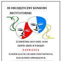 Konkurs Recytatorski z Zespole Szkół w Pasłęku